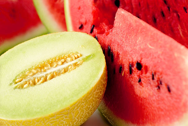 watermelons and ananas melon slices