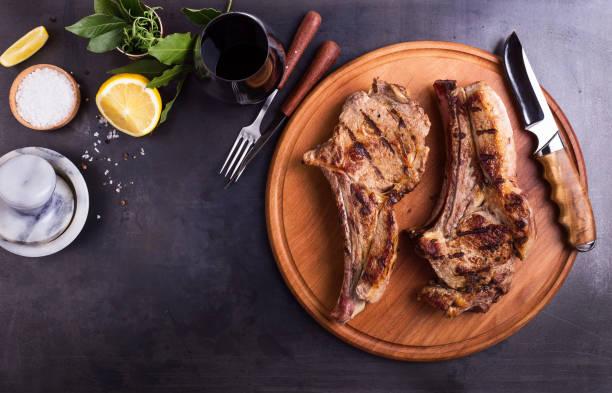 Barbecue bone-in ribeye steak