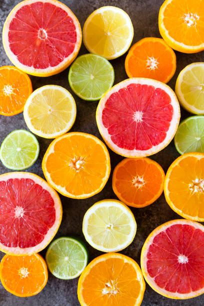 colorful types of grapefruits
